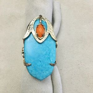 Dani or Darby turquoise and coral gold
